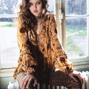 Spell Etienne blouse - Sienna